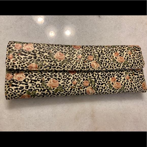 Aldo Handbags - Leopard Print with roses Aldo clutch